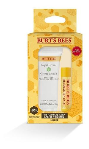 Kit Natural Para Labios Y Rostro Noche Burt's Bees