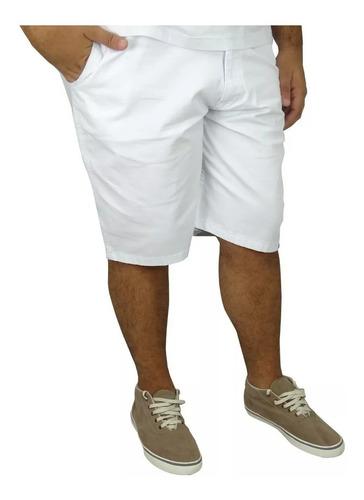 Bermuda Jeans Masculina Colorida Com Lycra Plus Size