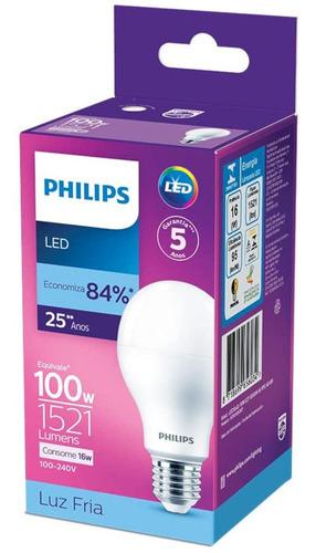 Lâmpada Led Philips 16w Bivolt Luz Branca Fria 6500k E27