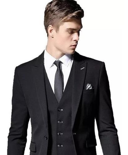 Kit Terno Completo Blazer+calça+colete Premium