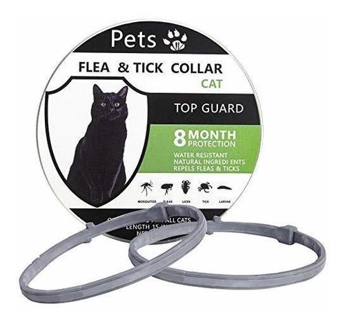 Petsvv - Paquete De 2 Collar Antipulgas Para Gatos, Collar D