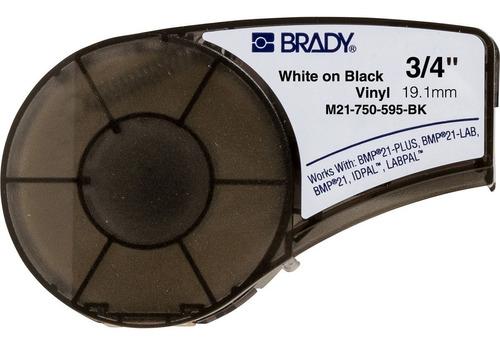 Fita Etiqueta Brady M21-750-595-bk Nylon Preto/branco 19mm