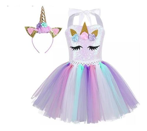 Vestido Fantasia Infantil Unicórnio