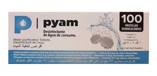Pastillas Potabilizadoras De Agua Pyam X 100 Comprimidos
