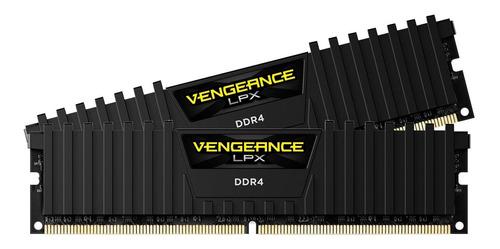 Memória Ram Vengeance Lpx Color Black  16gb 2x8gb Corsair Cmk16gx4m2b3200c16