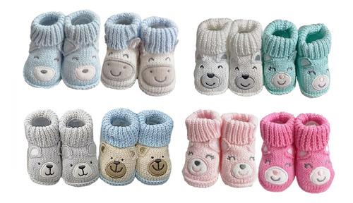 Par De Escarpines Crochet- Bebés Y Niños