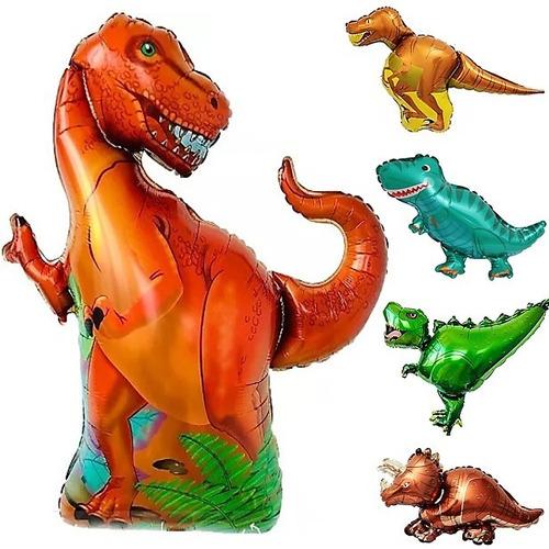 10 Globo Dinosaurio : 1 Rex Gigante +9 Surtidos Candy Bar T2