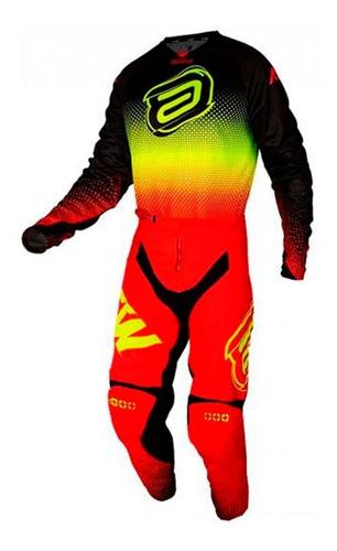 Kit Roupa Trilha Motocross Asw Image Mandala 2021 Vermelho