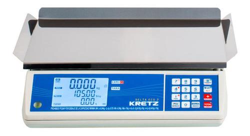Balanza Comercial Digital Kretz Delta Eco 2 15kg 110v/240v 380mm X 250mm