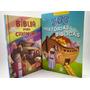 Kit Com Livro 365 Historias E Uma Bíblia Ilustrada Crianças