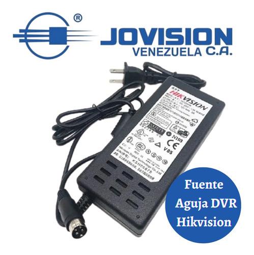 Fuente Poder Transformador 12v 5amp Dvr Hikvision  4 Agujas