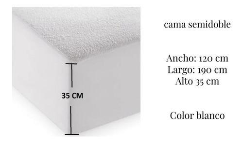 Protector Antifluido/ Impermeable Semidoble(120x190cm)