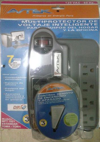Multiprotector Voltaje Inteligente Avtek Con Control Remoto