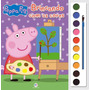 Livro Com Aquarela Peppa Pig Brincando Com As Cores
