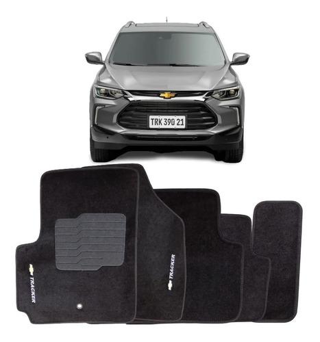 Tapete Carpete Chevrolet Tracker 2020 2021 Preto 4 Peças