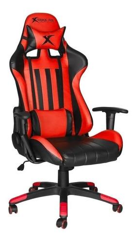 Silla De Escritorio Xtrike Me Gc-905 Gamer Ergonómica  Roja Y Negra Con Tapizado De Cuero Sintético
