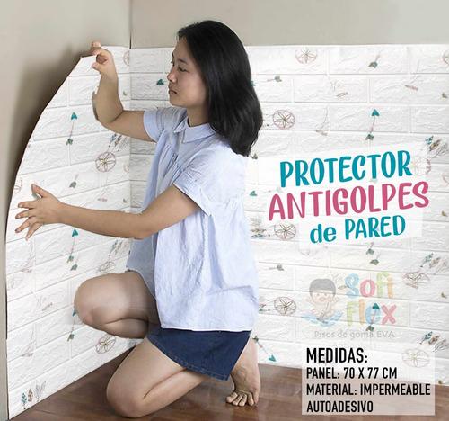 Protector Antigolpes Adhesivo 3d Para Pared