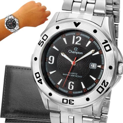 Relógio Champion Prata Dourado Original 1 Ano De Garantia