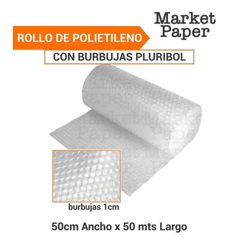 Rollo De Polietileno Con Globitos Burbujas Pluribol De 50cm