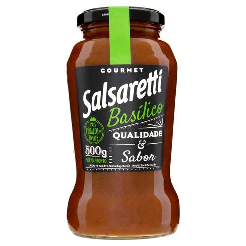 Molho De Tomate Com Manjericão Salsaretti Gourmet Sem Glúten 500g
