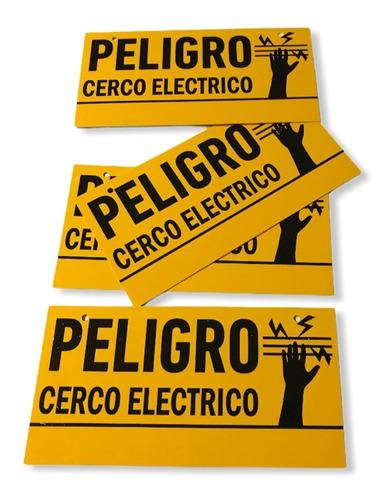 12 X Cartel Advertencia Cerco Eléctrico Eco Envio Gratis