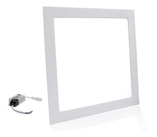 Led Plafon Painel 18w Quadrado Embutir Slim Borda Fina