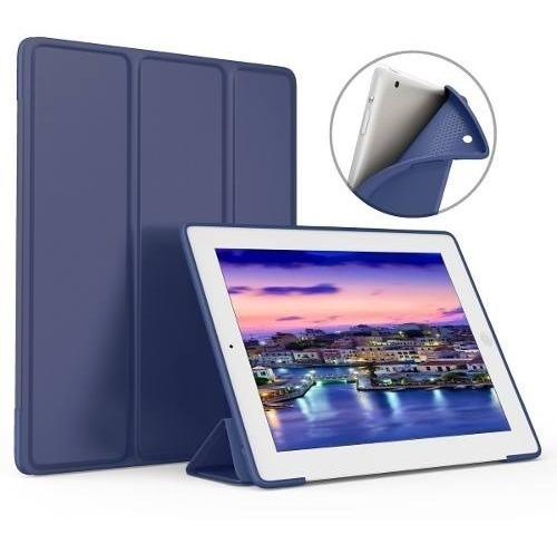 COMBO FUNDA SMART IPAD 9.7 A1822 NEW IPAD AZUL MAR