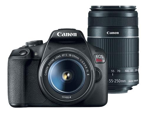 Kit Dslr Canon Eos Rebel T7 Com Lentes 18 55mm E 55 250 Ii