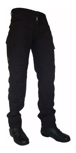 Calça Jeans Com Proteção Motociclista Hlx Defender Cargo