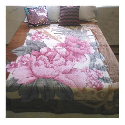 Cobertor Jolitex Ternille Dyuri Casal Castor Caminho Florido