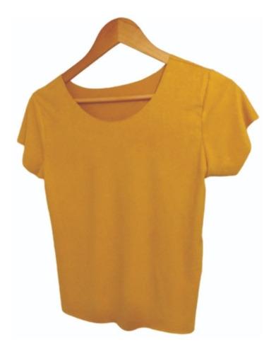 Kit 4 Blusinhas T-shirt Suede Moda Lançamento Outono-inverno