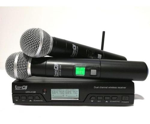 Microfono Inalámbrico Uhv- 412 Prodj Nuevos