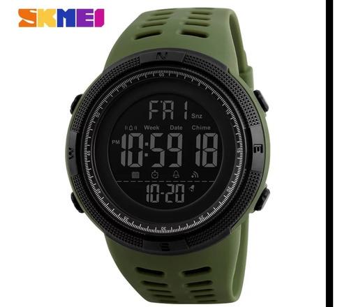 Kit Com 2 Relógio 1 Skmei 1251 Verde + 1 Skmei 1251  Preto