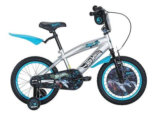 Bicicleta Hotwheels Niño Rodado 16 Color Plateado
