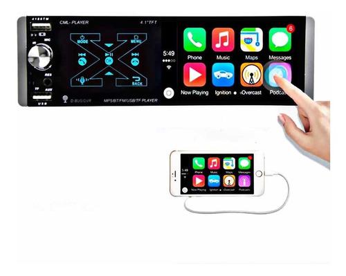 Radio Pantalla Táctil 1din Bluetooth Usb Sd Mirror Link
