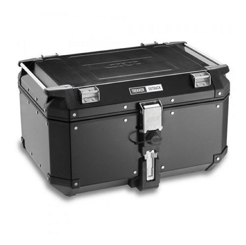 Bau Bauleto Outback Aluminio 58 L Top Case Givi Preto Obk58b