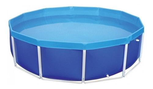 Piscina Estrutural Redonda Mor 001007 Com Capacidade De 4500 Litros De 2.78m De Diâmetro  Azul
