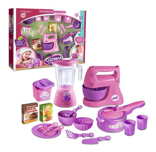Kit Cozinha Infantil Show De Cozinha Rosa Acessórios Oferta