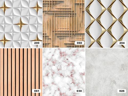 Papel De Parede 3d Geometrico Varios Modelos Adesivo Lavavel
