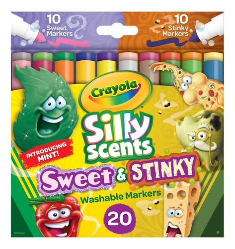 Crayola: Caja X 20 Marcadores  Apestosos  & Dulces
