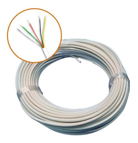 Cable Portero Telefonico Alarma 2 Pares 5 Hilos 25mts