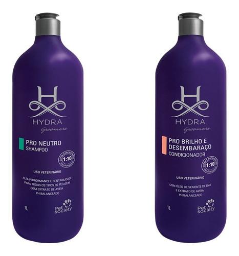 Shampoo Pro Neutro 1 Litro + Cond. Brilho E Desembaraço 1l