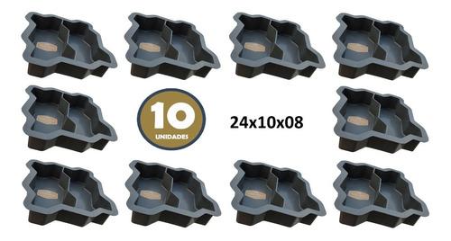 Forma Dupla Intertravada P/bloquete De Cimento 10peças!!
