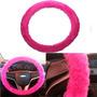 Capa De Volante Em Pelúcia Pink Confortável E Moderno