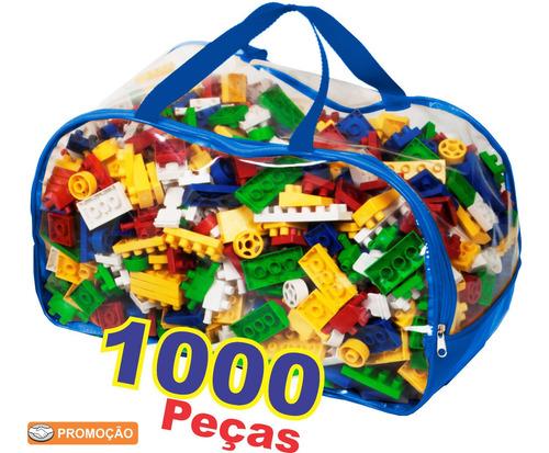 Brinquedo Blocos De Montar Infantil Educativo 1000 Peças