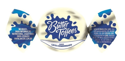Bala Butter Toffees Pacote - Escolha O Sabor - Promoção