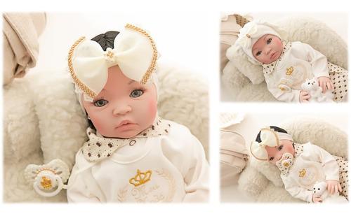 Bebe Reborn Menina Promoção Pérolas Barata  Princesa + Bolsa