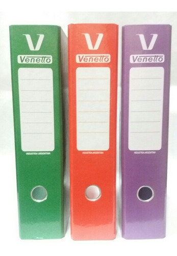Bibliorato Oficio Veneto Varios Colores Pack X 10 Unidades