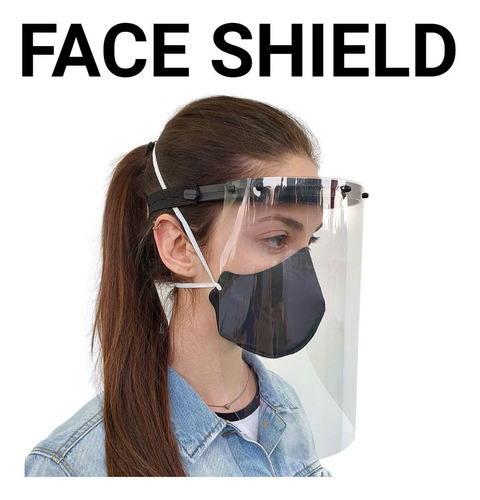 Kit 10 Protetores Facial De Polipropileno Face Shield