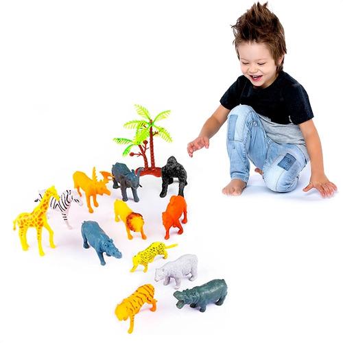 Brinquedo Infantil Conjunto Animais Da Selva Educativo